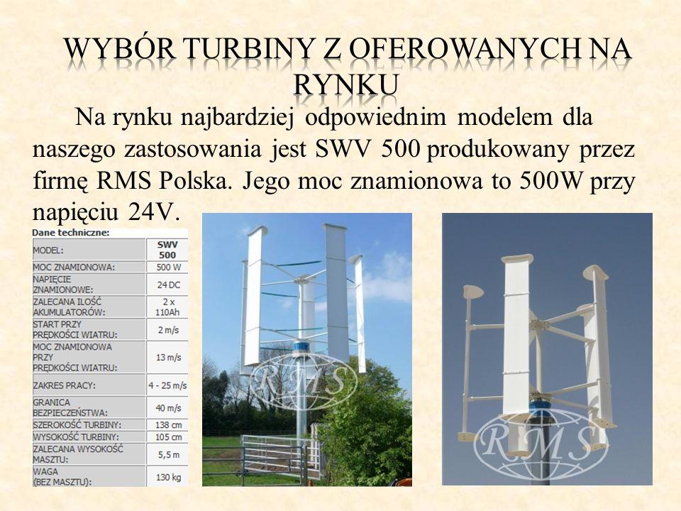 Na rynku najbardziej odpowiednim modelem dla naszego zastosowania jest SWV 500 produkowany przez firmę RMS Polska. Jego moc znamionowa to 500W przy na