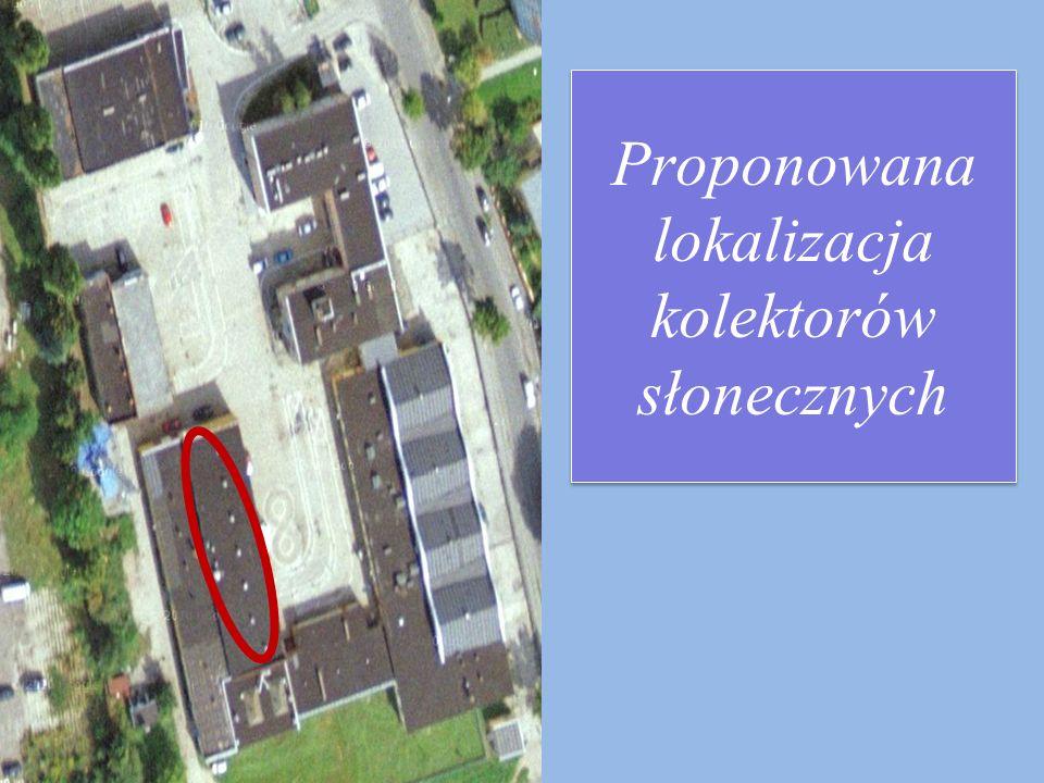 Proponowana lokalizacja kolektorów słonecznych