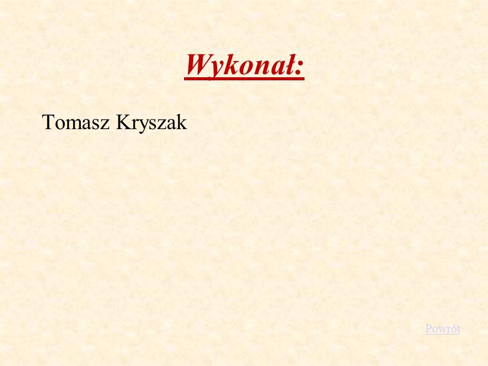 Wykonał: Tomasz Kryszak Powrót