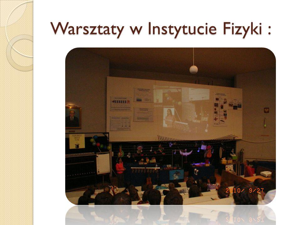 Warsztaty w Instytucie Fizyki :
