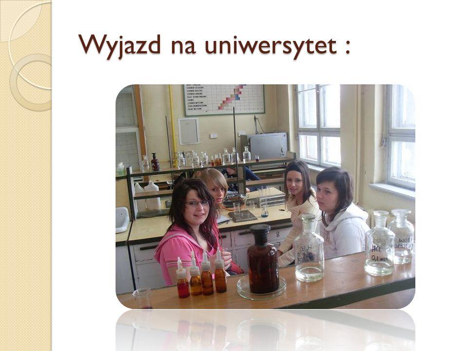 Wyjazd na uniwersytet :