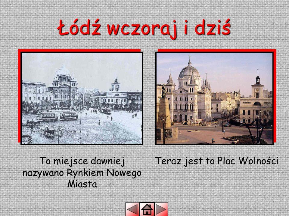 Łódź wczoraj i dziś Ponad sto pięćdziesiąt lat temu Łódź była miastem przemysłowym.