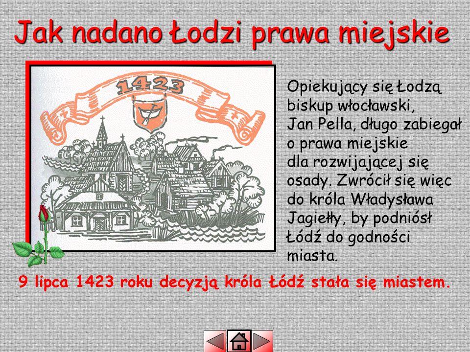LEGENDA O ŁODZI Dawno temu, kiedy w miejscu gdzie dziś stoi miasto Łódź szumiała puszcza, pewien chłop imieniem Janusz zbiegł do niej od uciskających go panów z łęczyckiego grodu.