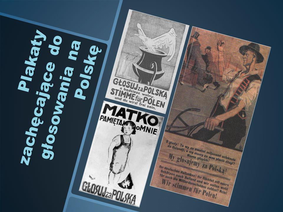 Plakaty zachęcające do głosowania na Polskę