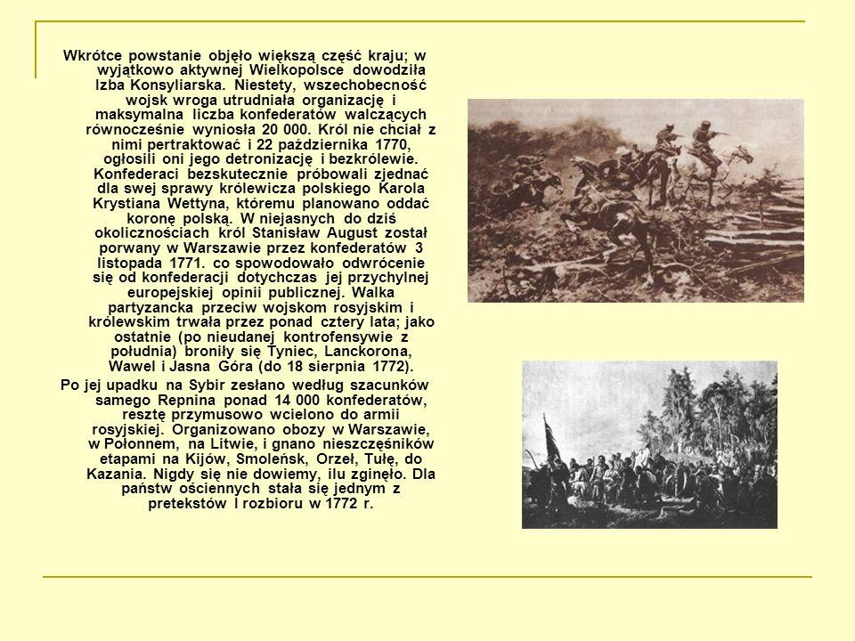 Wkrótce powstanie objęło większą część kraju; w wyjątkowo aktywnej Wielkopolsce dowodziła Izba Konsyliarska. Niestety, wszechobecność wojsk wroga utru