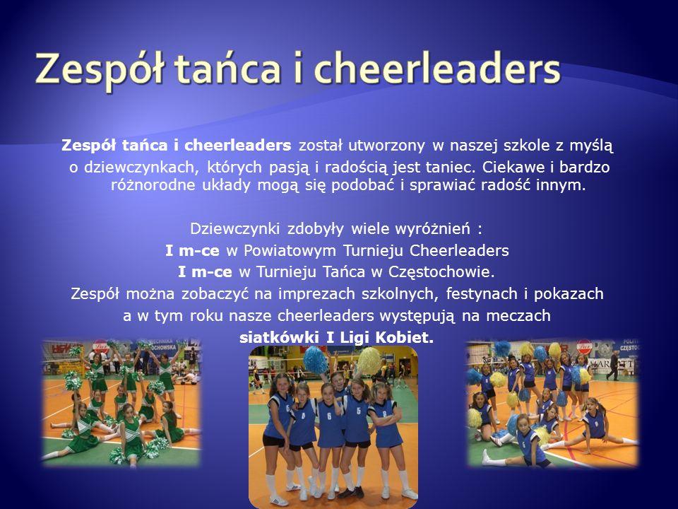 Zespół tańca i cheerleaders został utworzony w naszej szkole z myślą o dziewczynkach, których pasją i radością jest taniec. Ciekawe i bardzo różnorodn