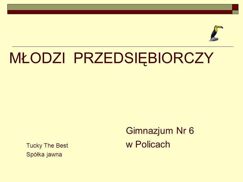 Tucky The Best Gimnazjum Nr 6 w Policach A to właśnie my W górnym rzędzie od lewej: Norbert Ziółkowski, Kamil Stochmal, Natalia Klinger, Klaudia Siemieniuk, p.