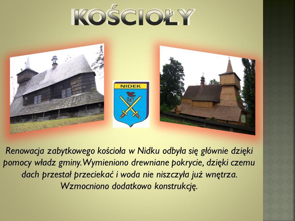Renowacja zabytkowego kościoła w Nidku odbyła się głównie dzięki pomocy władz gminy.