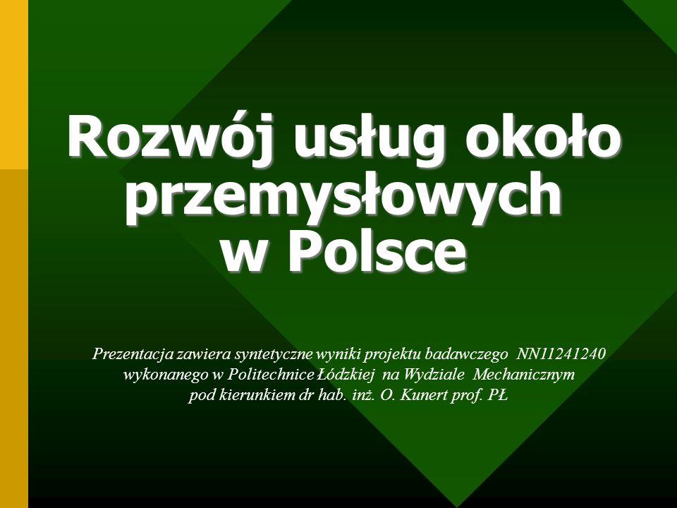 Usługi skupiające się wokół przemysłu w Polsce należy rozpatrywać w kontekście transformacji polskiej gospodarki.