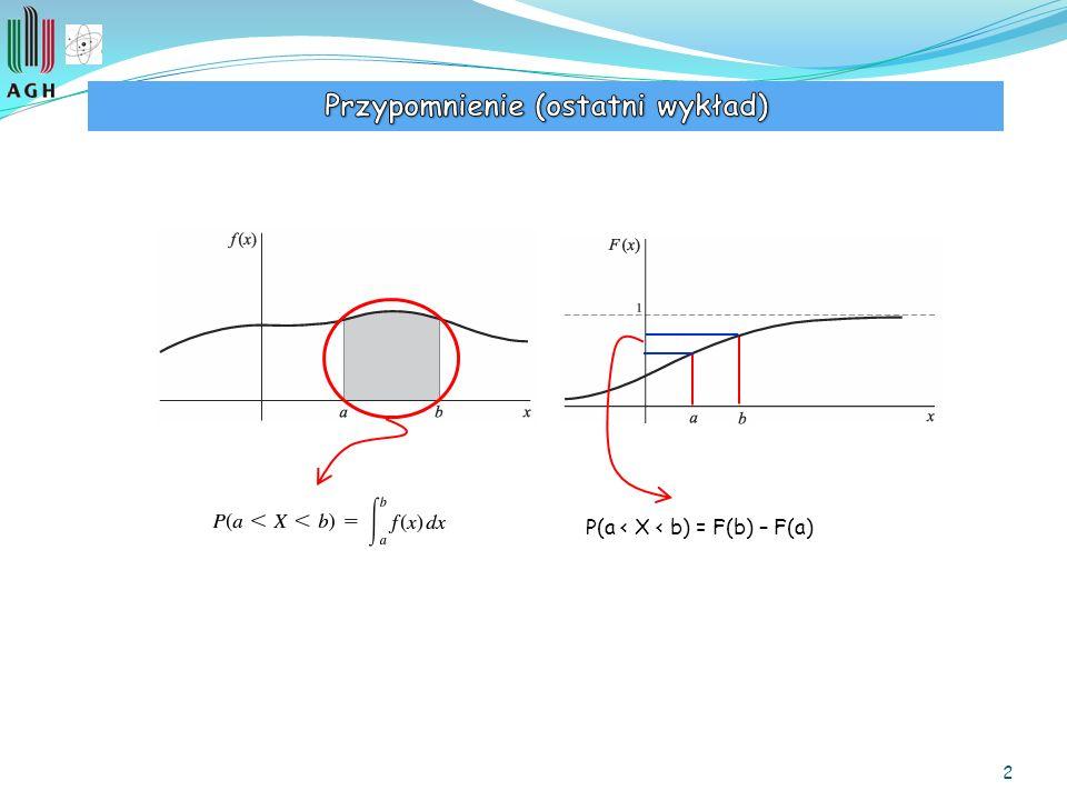 2 P(a < X < b) = F(b) – F(a)