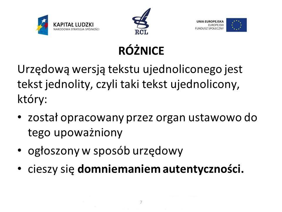 W sytuacji, w której ustawodawca wprowadzi rozwiązanie, o którym mowa w § 98 ZTP, wydanie danego tekstu jednolitego w określonym terminie jest obowiązkiem Marszałka Sejmu.
