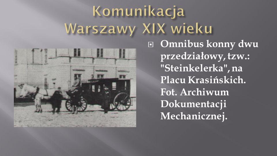 Omnibus konny dwu przedziałowy, tzw.:
