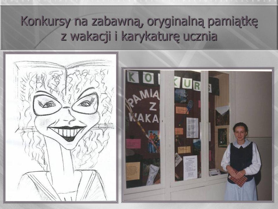 Konkursy na zabawną, oryginalną pamiątkę z wakacji i karykaturę ucznia