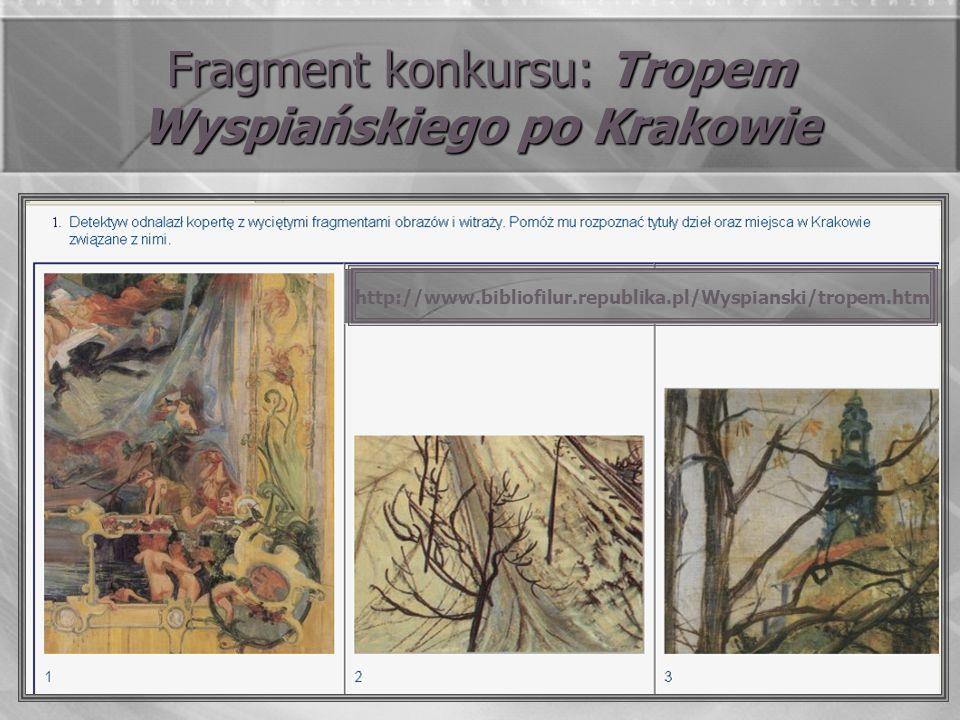 Fragment konkursu: Tropem Wyspiańskiego po Krakowie http://www.bibliofilur.republika.pl/Wyspianski/tropem.htm