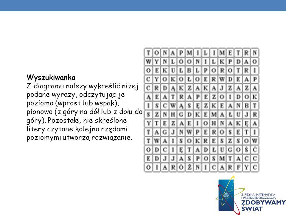 Krzyżówki liczbowe W puste pola wpisz liczby od 1 do 8, tak aby spełnione były następujące warunki: każda liczba powtarza się dwa razy, liczby leżące
