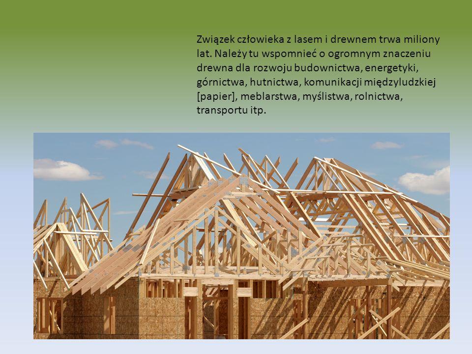 Przerabianie drewna Ogólny schemat pozyskiwania i przerobu drewna