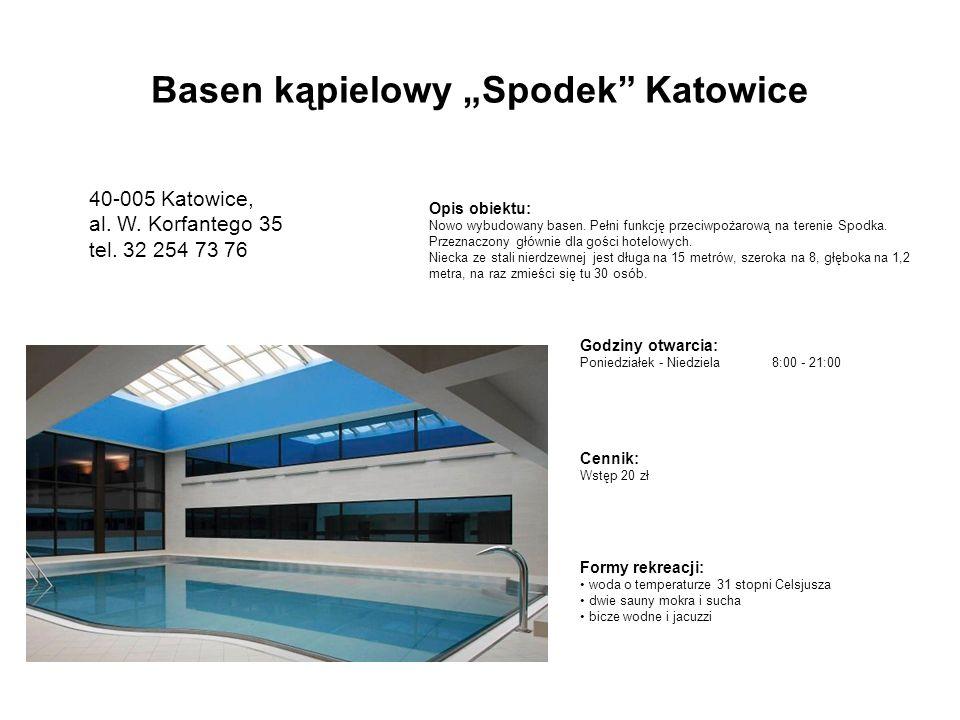 Godziny otwarcia: Poniedziałek - Niedziela8:00 - 21:00 Opis obiektu: Nowo wybudowany basen.