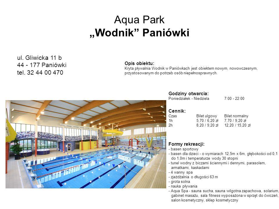 Aqua Park Wodnik Paniówki ul.Gliwicka 11 b 44 - 177 Paniówki tel.
