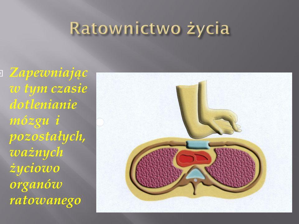 Zapewniając w tym czasie dotlenianie mózgu i pozostałych, ważnych życiowo organów ratowanego