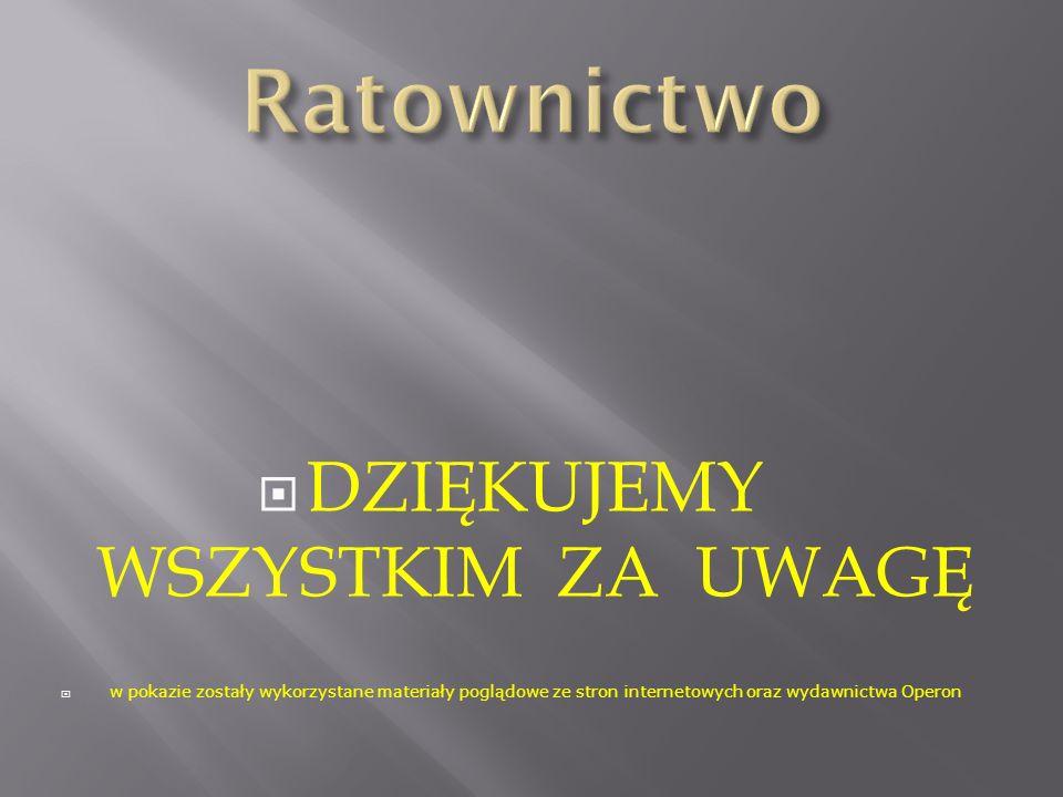 DZIĘKUJEMY WSZYSTKIM ZA UWAGĘ w pokazie zostały wykorzystane materiały poglądowe ze stron internetowych oraz wydawnictwa Operon