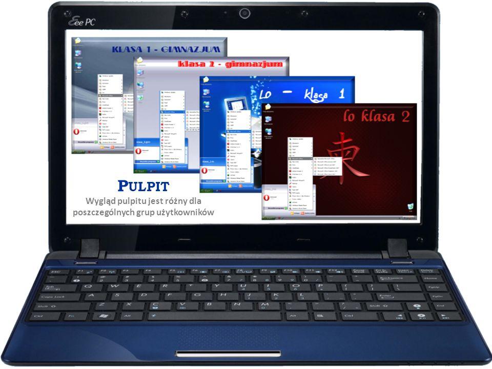 P ULPIT Wygląd pulpitu jest różny dla poszczególnych grup użytkowników