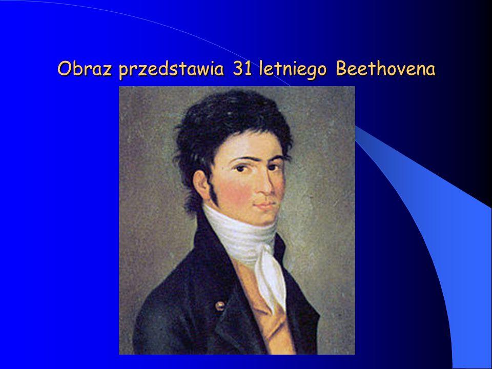 Obraz przedstawia 31 letniego Beethovena