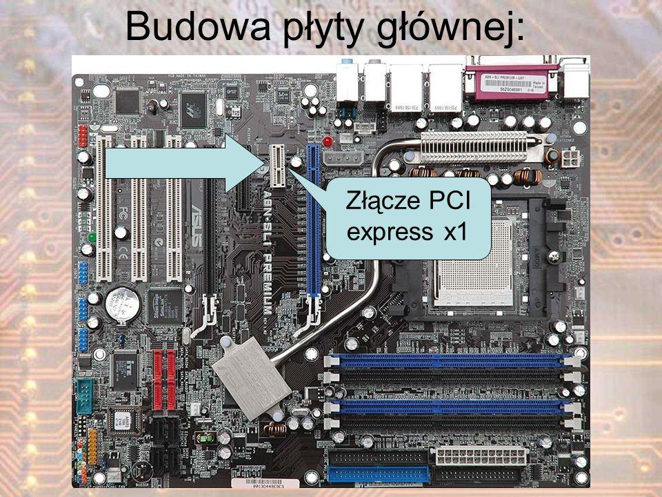 Budowa płyty głównej: Złącze PCI express x1