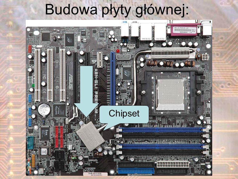 Chipset Budowa płyty głównej:
