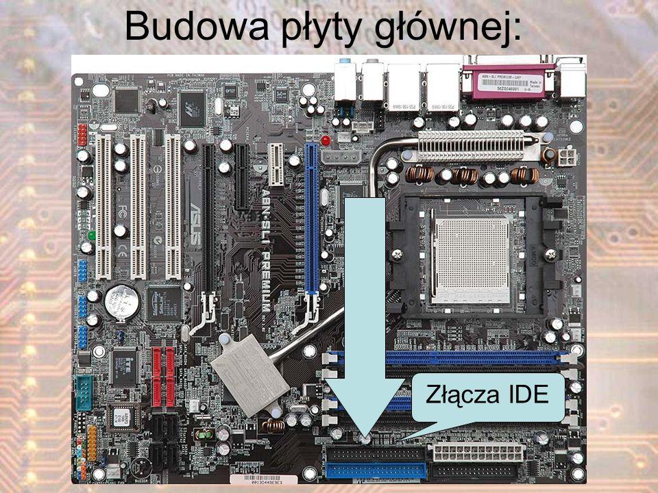 Złącza IDE Budowa płyty głównej: