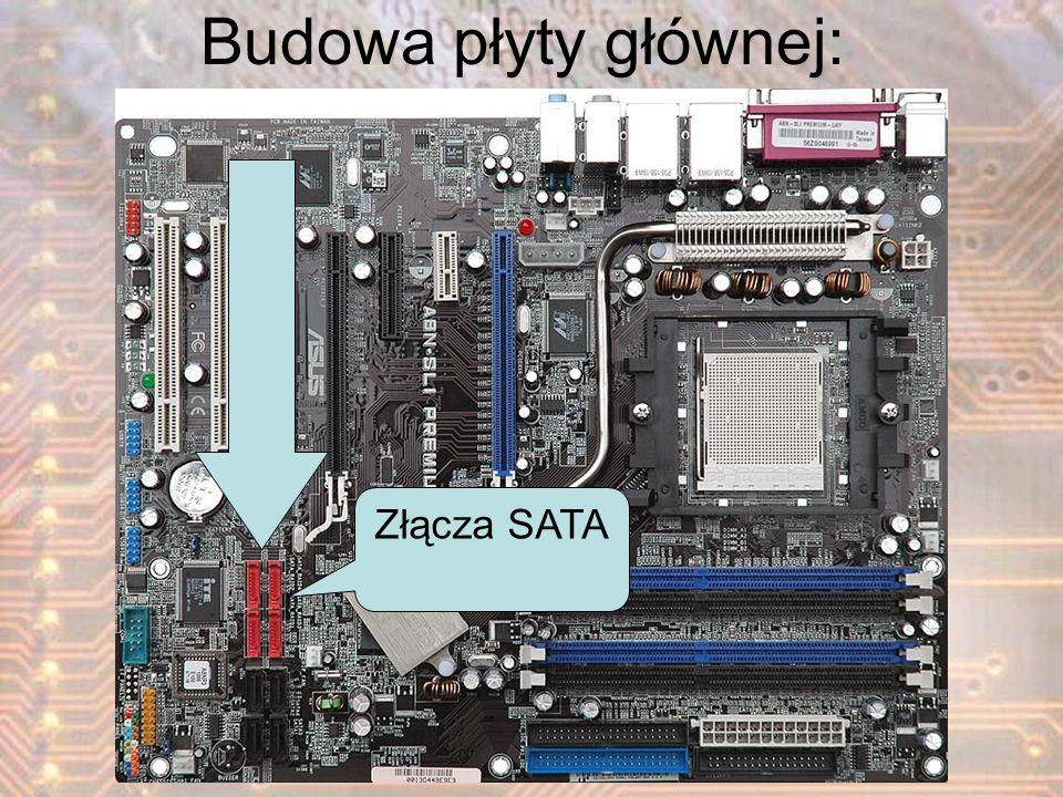 Złącza SATA Budowa płyty głównej:
