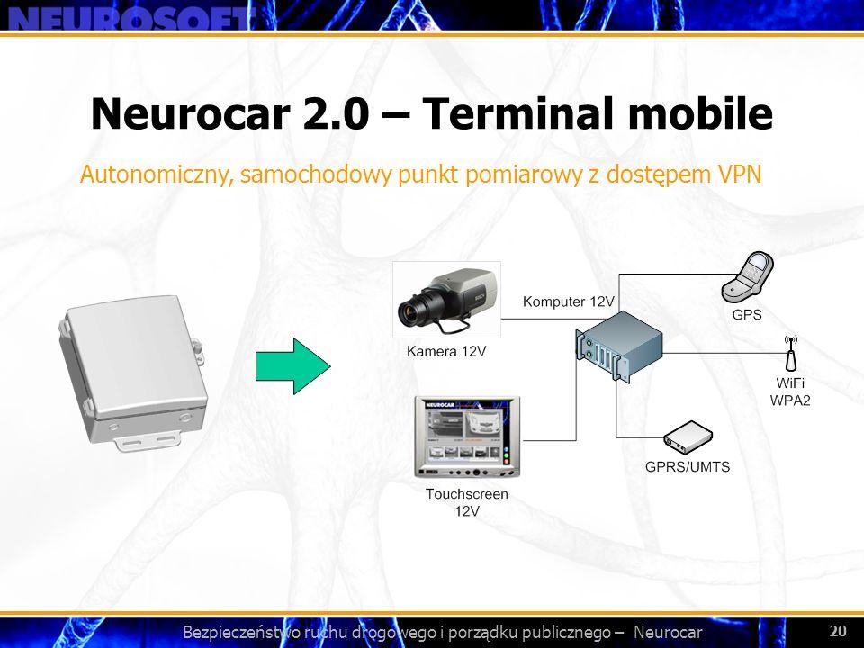 Bezpieczeństwo ruchu drogowego i porządku publicznego – Neurocar 20 Neurocar 2.0 – Terminal mobile Autonomiczny, samochodowy punkt pomiarowy z dostępe