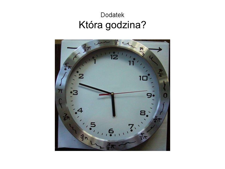 Dodatek Która godzina?