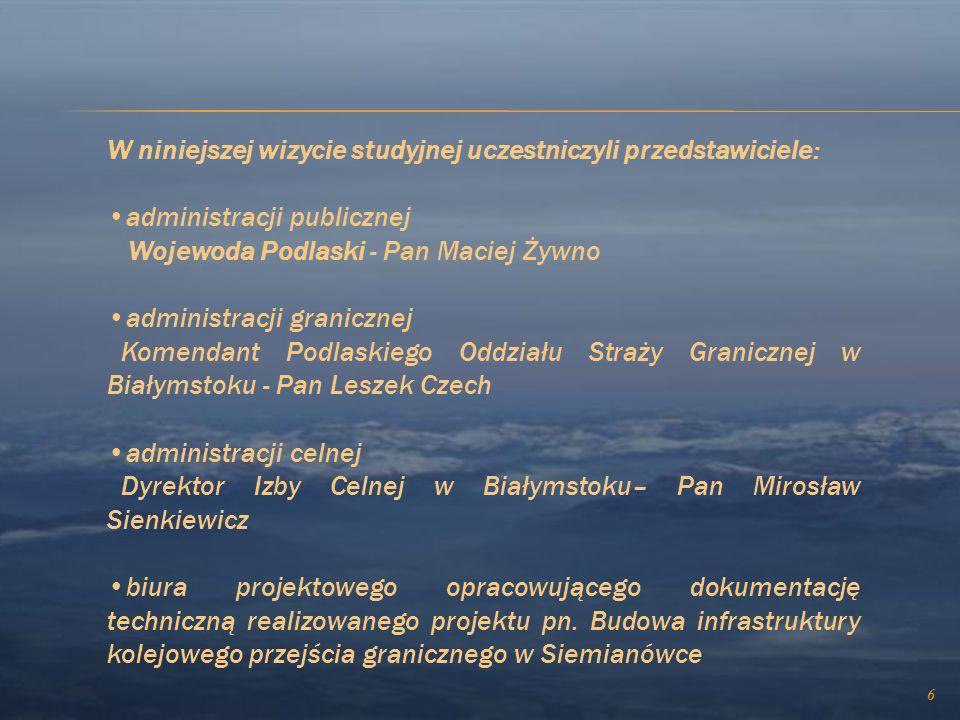 W dniach 30.08.-02.09.2010r. odbyła się wizyta studyjna przedstawicieli administracji rządowej województwa podlaskiego w Szwajcarii dot. projektu Nr S