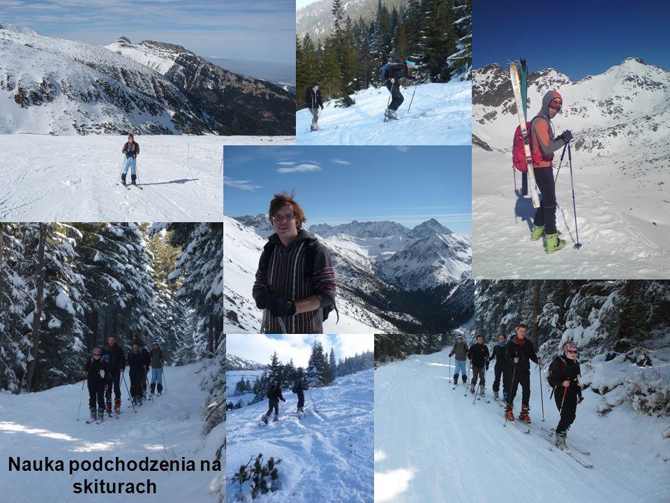 Ćwiczenia w terenie Nauka podchodzenia na skiturach