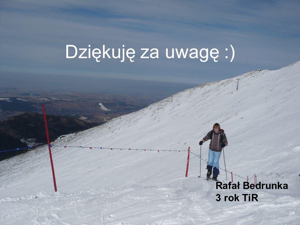 Dziękuję za uwagę :) Rafał Bedrunka 3 rok TiR