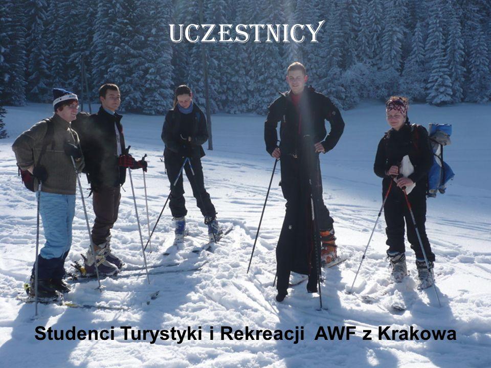 Uczestnicy Studenci Turystyki i Rekreacji AWF z Krakowa