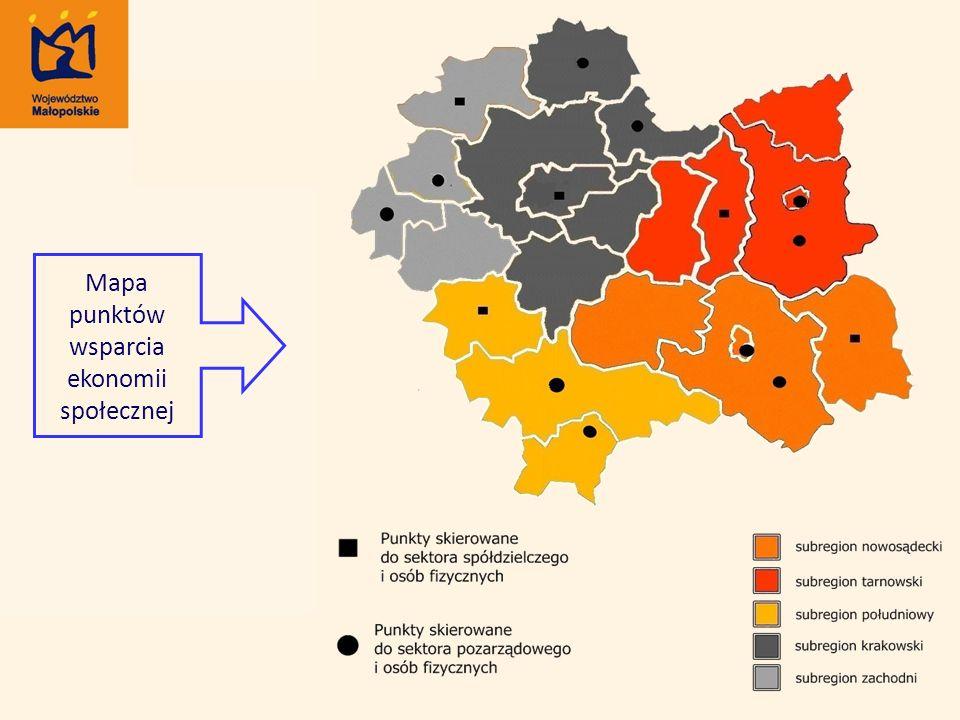 Mapa punktów wsparcia ekonomii społecznej