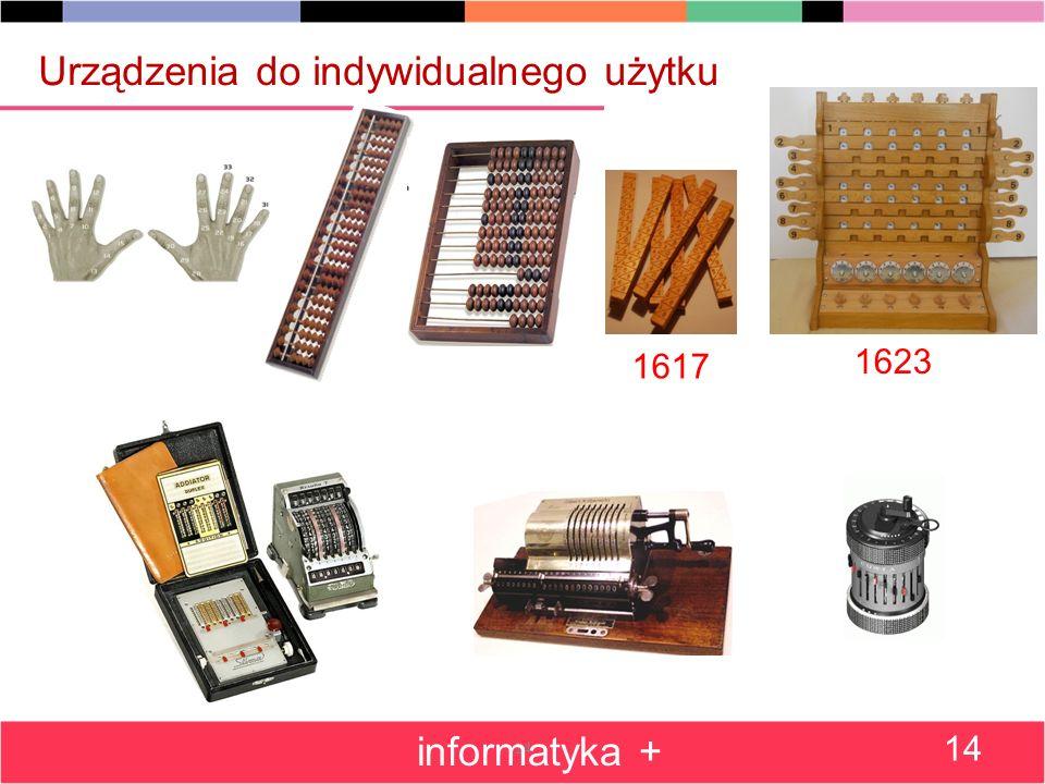 14 Urządzenia do indywidualnego użytku informatyka + 14 1617 1623