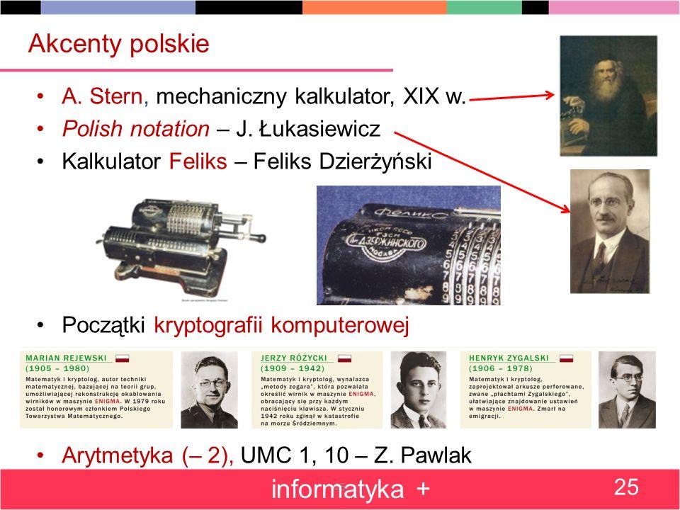 25 Akcenty polskie A.Stern, mechaniczny kalkulator, XIX w.