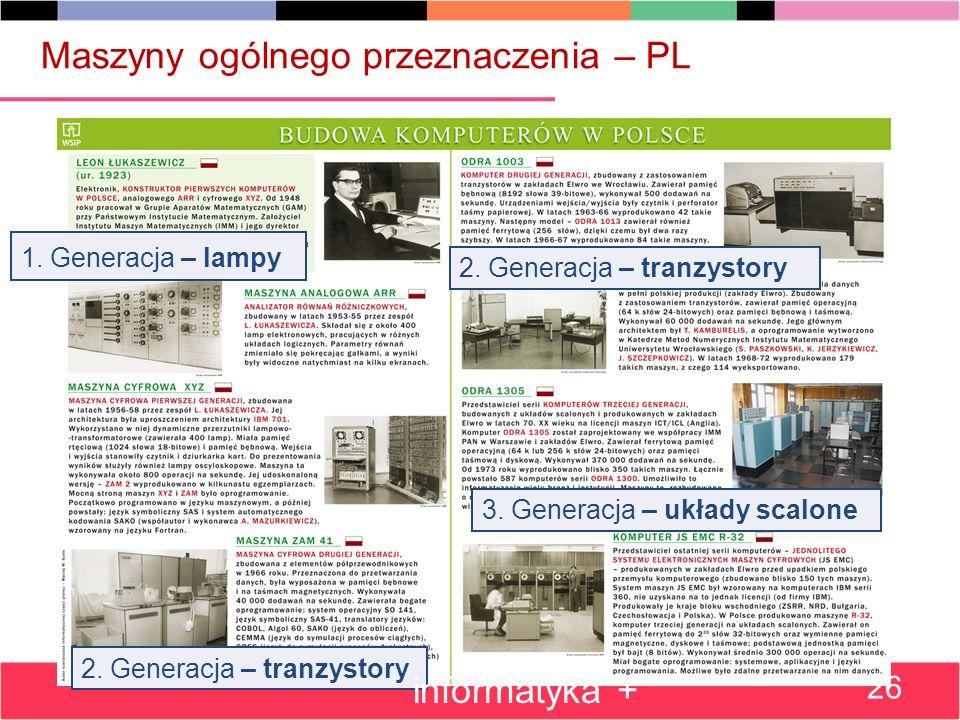 Maszyny ogólnego przeznaczenia – PL 1.Generacja – lampy 2.