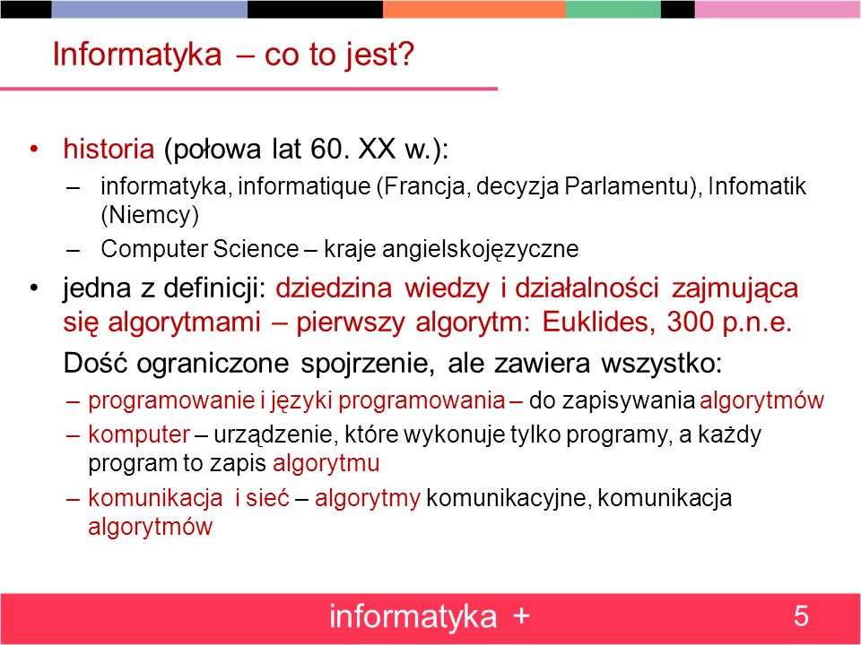 Informatyka – co to jest.