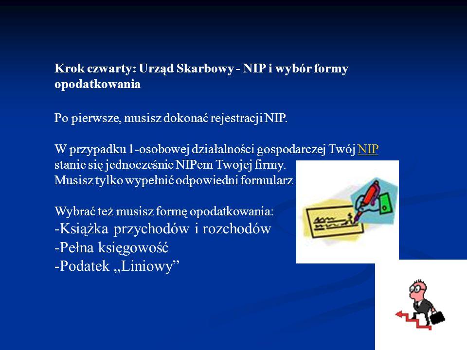 Krok czwarty: Urząd Skarbowy - NIP i wybór formy opodatkowania Po pierwsze, musisz dokonać rejestracji NIP. W przypadku 1-osobowej działalności gospod