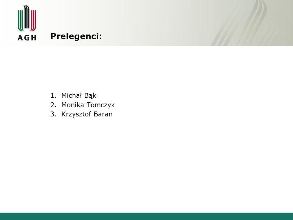 Prelegenci: 1.Michał Bąk 2.Monika Tomczyk 3.Krzysztof Baran