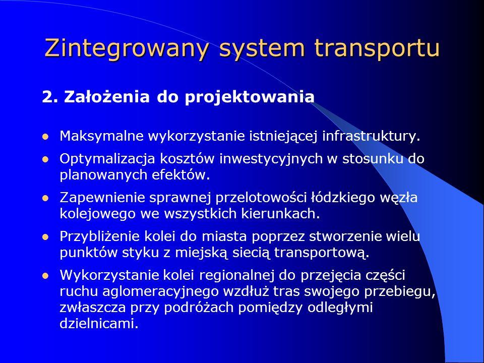 Zintegrowany system transportu Maksymalne wykorzystanie istniejącej infrastruktury.