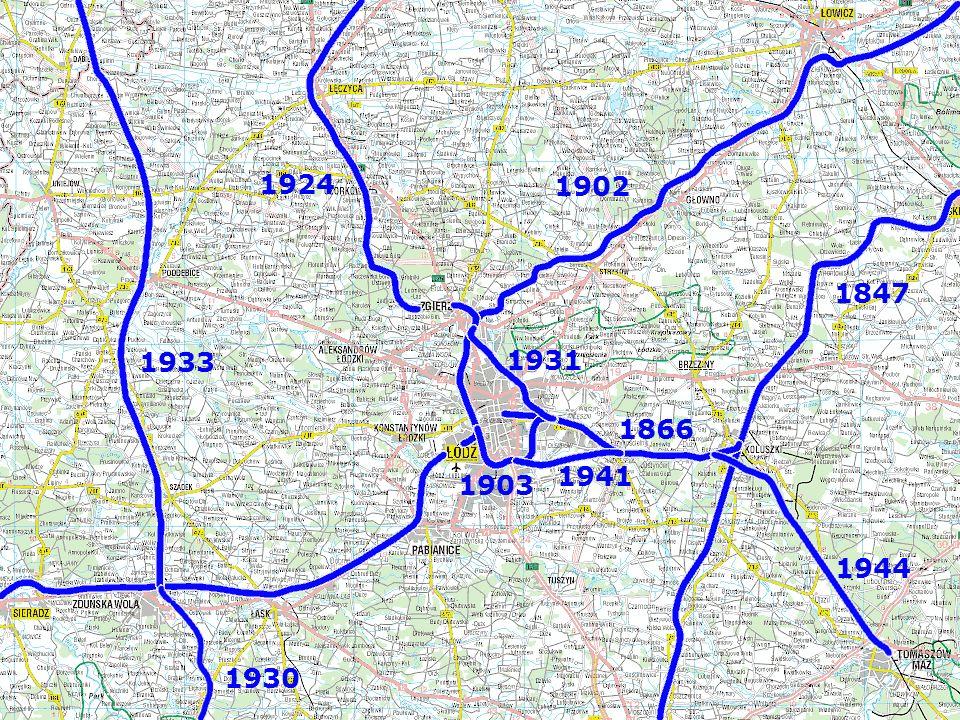 Węzeł - historia 1847 1866 1902 1903 1924 1931 1941 1944 1930 1933