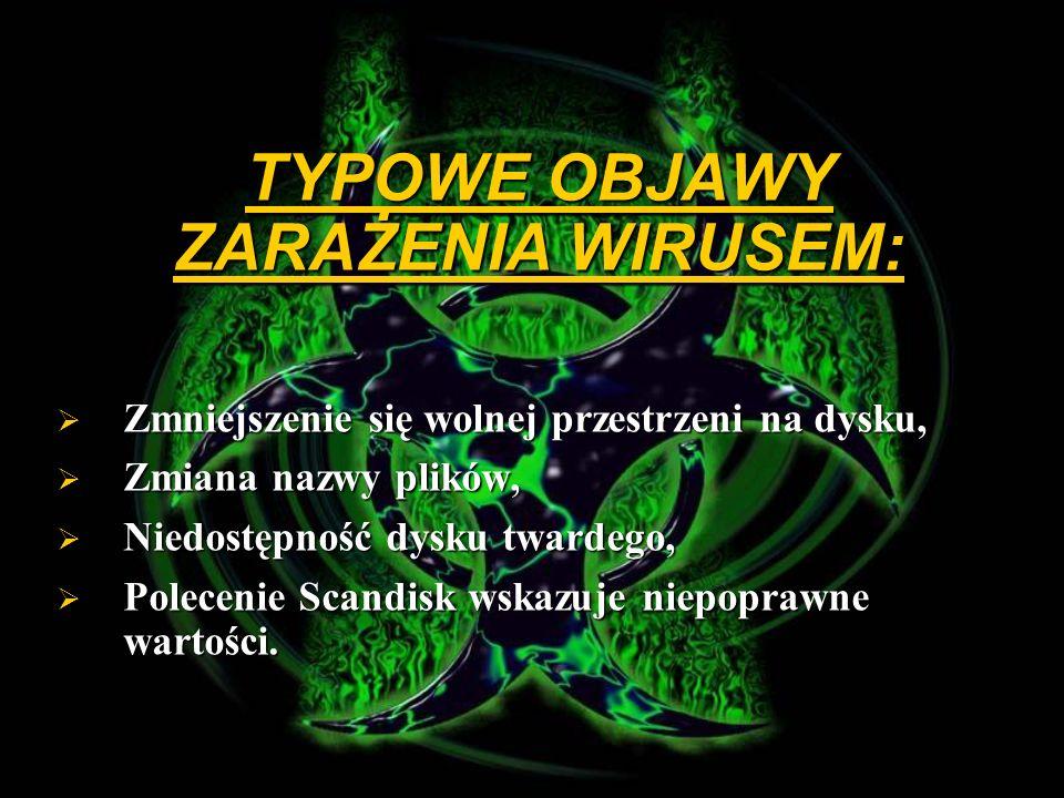 Wirusy plikowe – wirusami tymi mogą być konie trojańskie, wirusy opancerzone, ukryte, bądź inne wirusy.