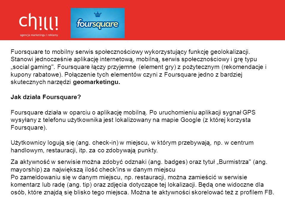 Fuorsquare to mobilny serwis społecznościowy wykorzystujący funkcję geolokalizacji. Stanowi jednocześnie aplikację internetową, mobilną, serwis społec