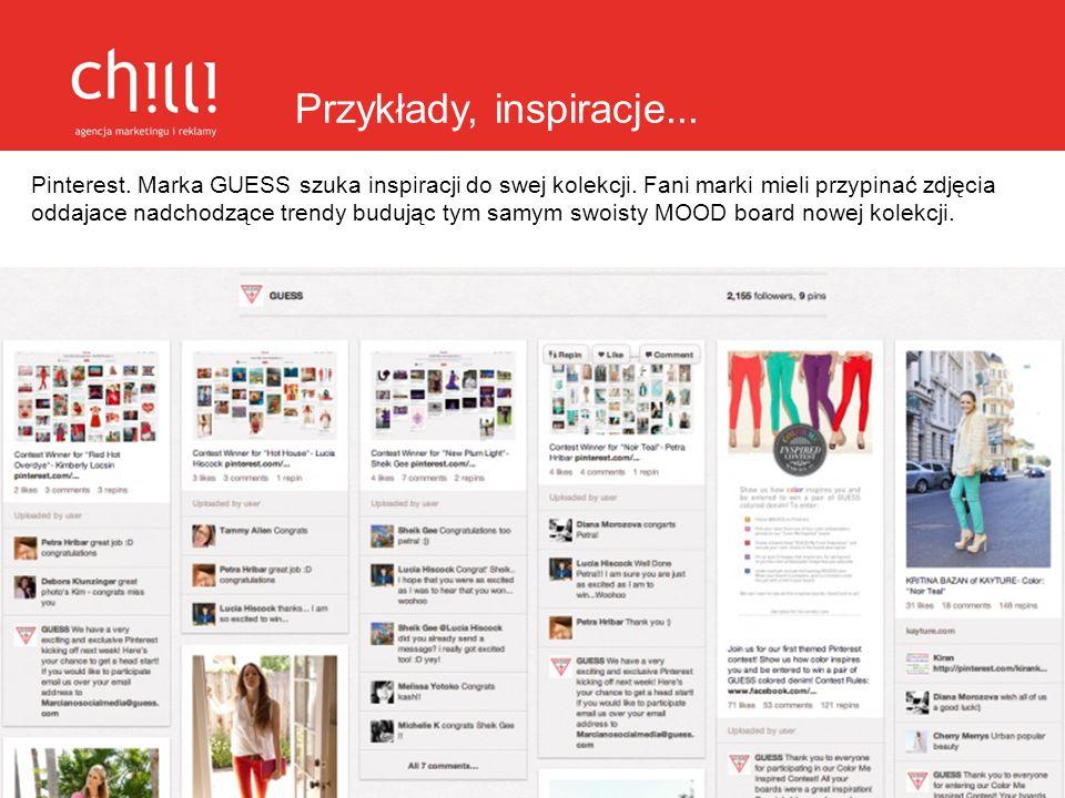 Przykłady, inspiracje... Pinterest. Marka GUESS szuka inspiracji do swej kolekcji. Fani marki mieli przypinać zdjęcia oddajace nadchodzące trendy budu