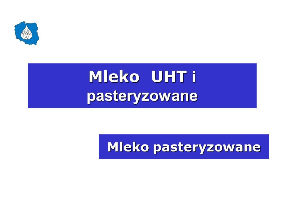 Mleko pasteryzowane Mleko UHT i pasteryzowane