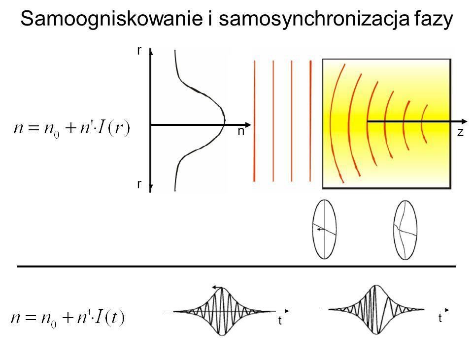 Samoogniskowanie i samosynchronizacja fazy n r r z t t